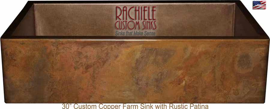 30 inch copper farm sink made in the usa