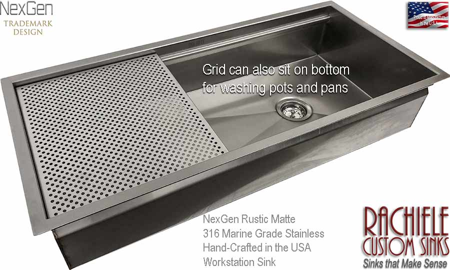 42 inch stainless steel undermount sink