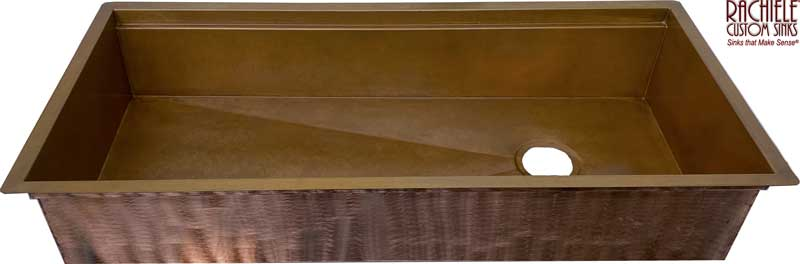 42 inch undermount workstation sink copper