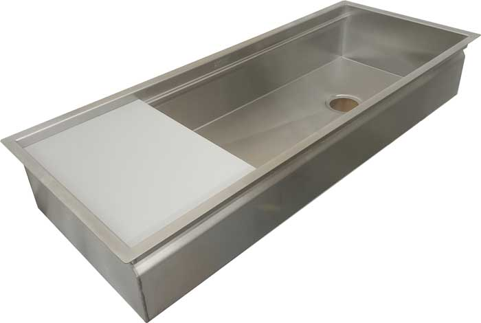 46 inch brushed stainless workstation under mount sink on clearance