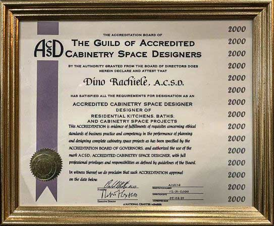 Dino Rachiele Accredited Kitchen Designer Certification