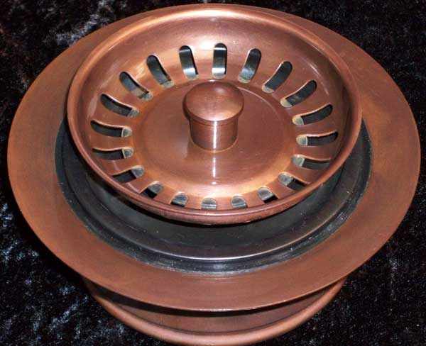 Solid Copper Kitchen Drains And Disposal Flanges For Copper Sinks