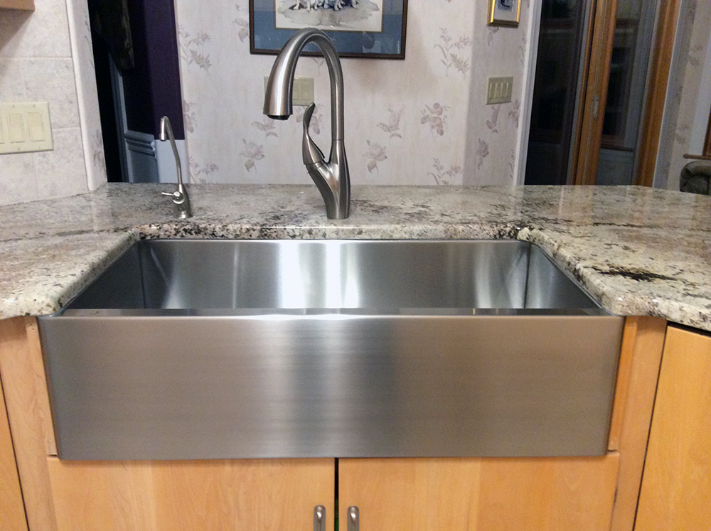 Rachiele stainless steel custom kitchen apron front sinks for Rachiele sink complaints