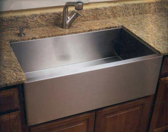 Custom made Farmhouse Apron Front stainless steel workstation sinks ...