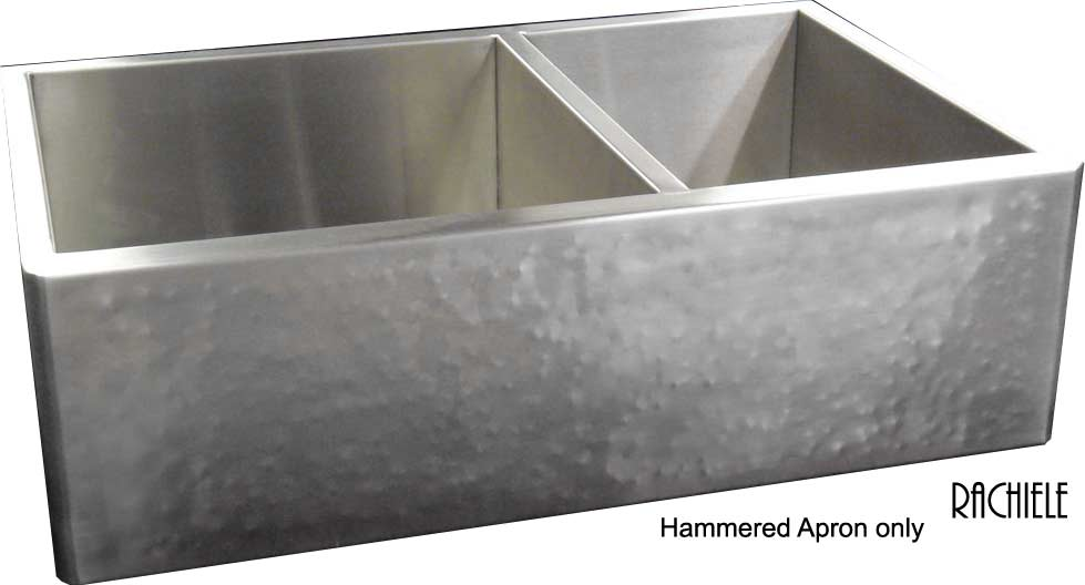 Good Double Bowl Hammered Stainless Farmhouse Sink