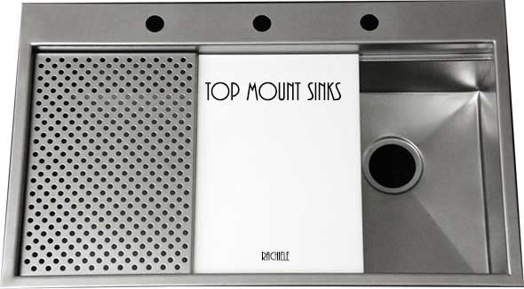 Top mount retrofit stainless sink