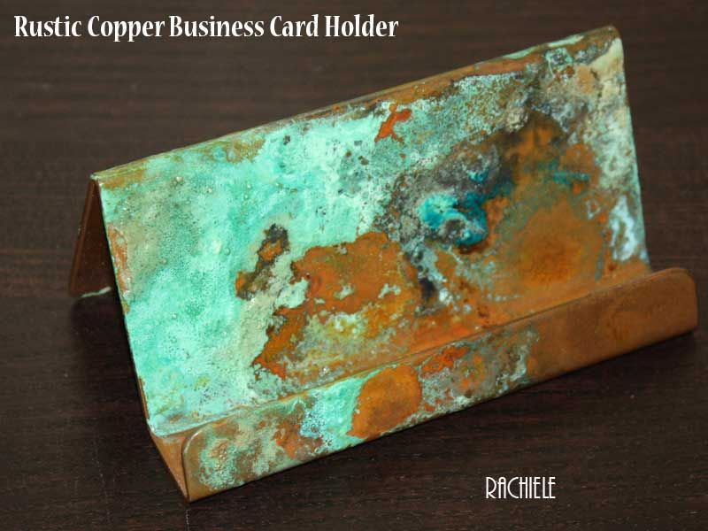 copper business card holder