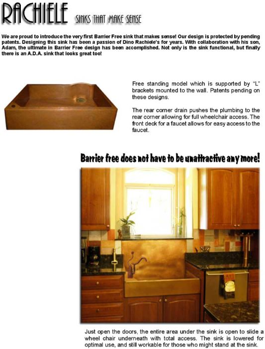 Barrier free custom sinks
