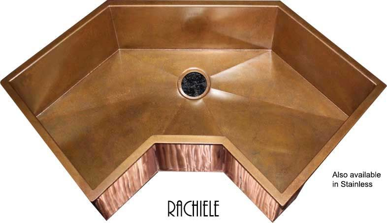 Single Bowl Corner Kitchen Sinks: Rachiele Copper And Stainless