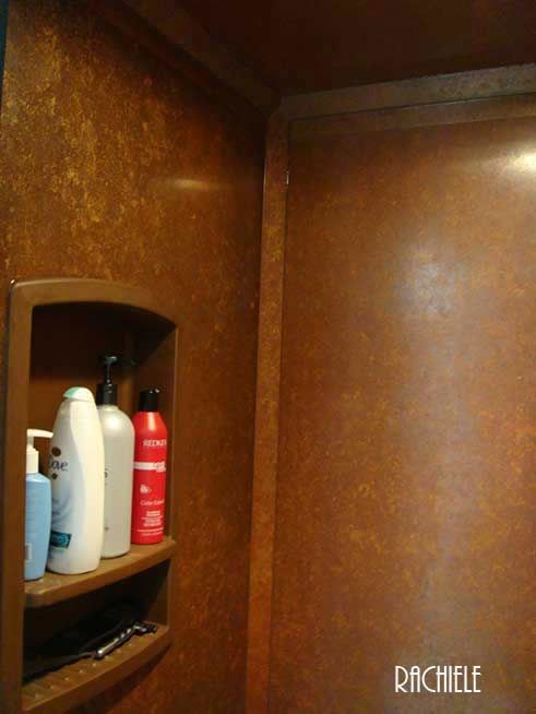 copper shower walls