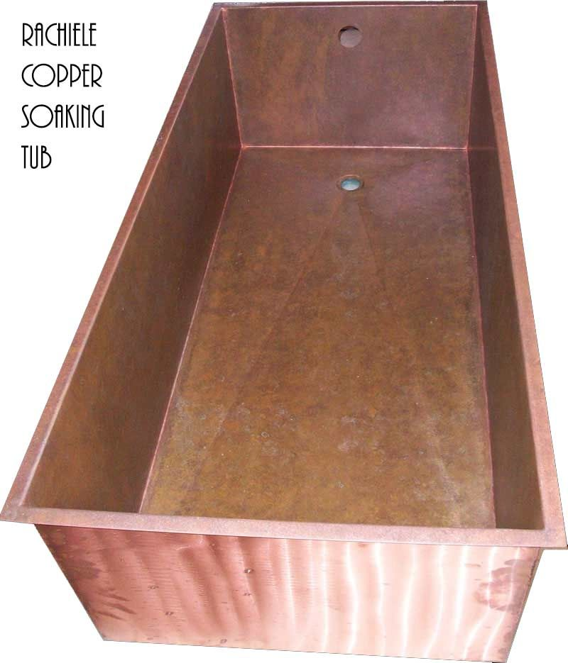 Copper Soaking Tubs and Showers custom made in the USA by Rachiele