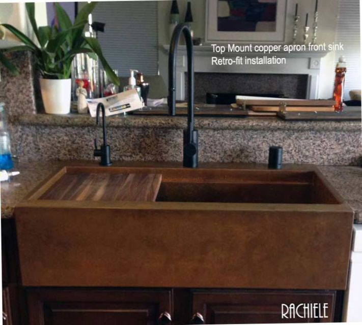 We Are The Only Company That Can Offer A Top Mounted Retrofit Apron Or Farmhouse  Sink In Copper Or Stainless.