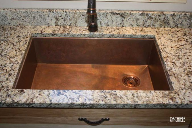 Copper Sinks Under Mount And Trough Copper Kitchen Sinks