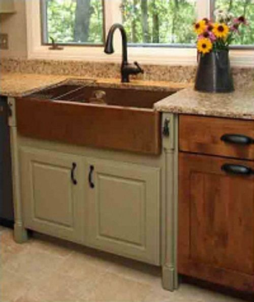 Best Apron Front Sink : Copper Sinks: Apron Front (Farmhouse) Copper Kitchen Sinks