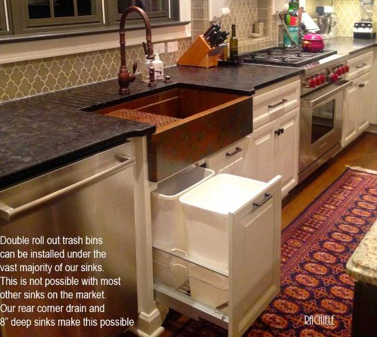 Small Kitchen Sink Cabinet: Rachiele Copper Apron Front Sinks Made In The USA