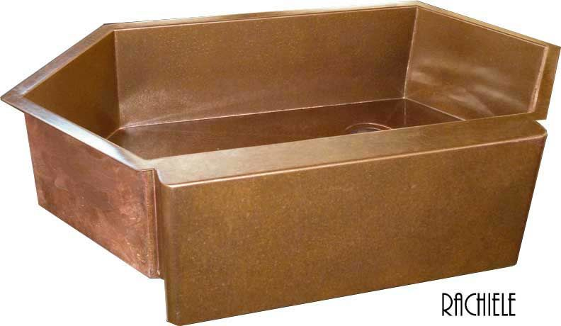 Single Bowl Corner Kitchen Sinks Rachiele Copper and Stainless Corner Kitche