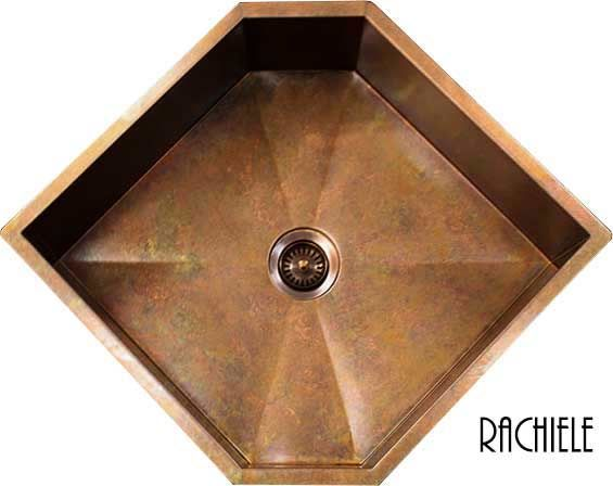 Copper Corner Sink : Corner sinks for kitchens: Custom made corner sinks now in Copper and ...