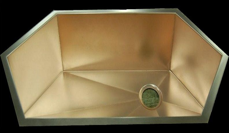 Copper Corner Sink : Rachiele Copper Corner Kitchen Sinks