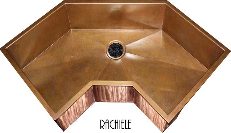 Corner Apron Sink : Corner sinks for kitchens: Custom made in Copper