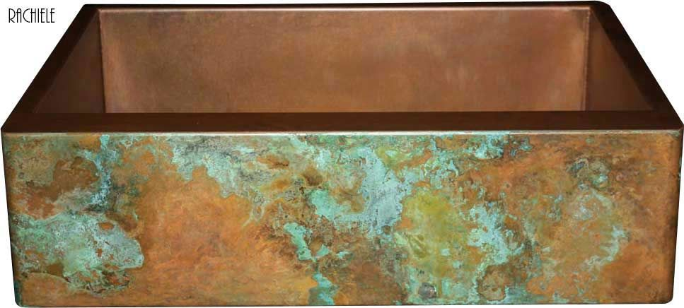 Copper Farmhouse Apron Sink Copper Patina Finish Options
