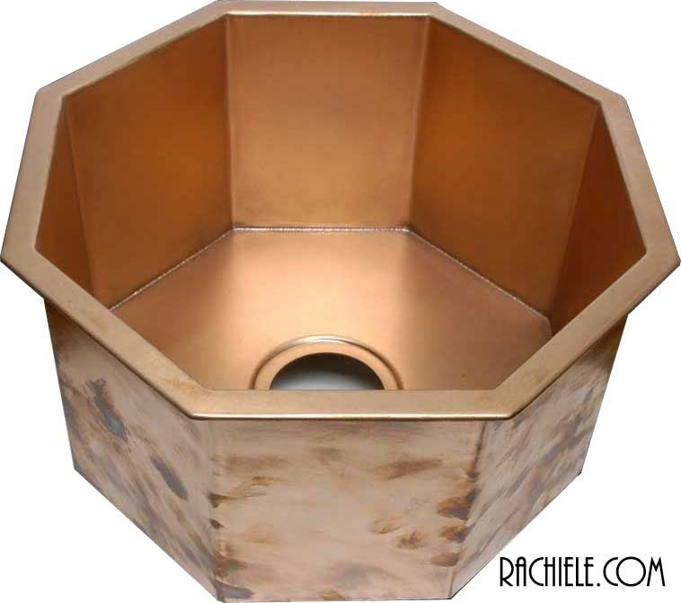 copper octagonal sink