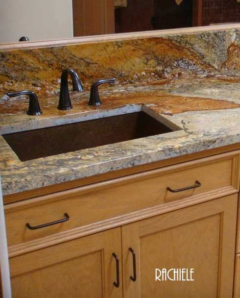 copper lavatory rectangular sink