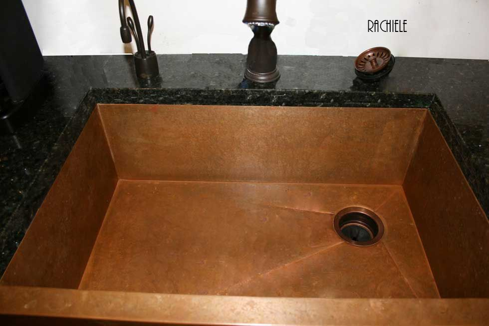 Retrofit Farmhouse Sink : Replacement Copper Retrofit Apron or Farmhouse sinks made in the USA
