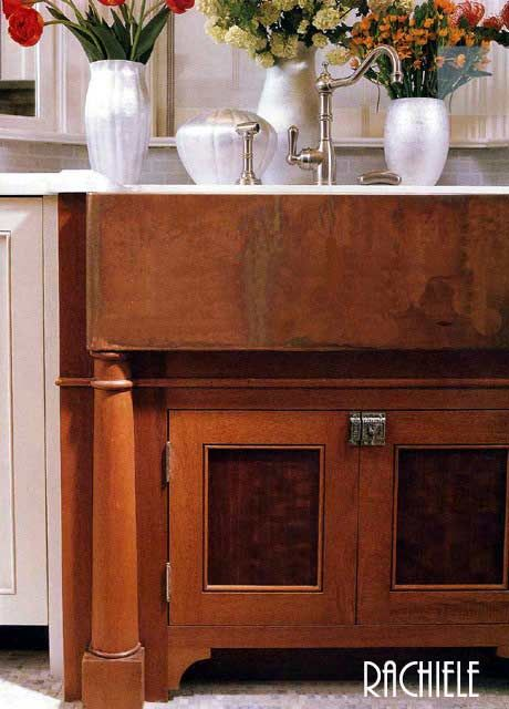 Rustic farmhouse copper sink