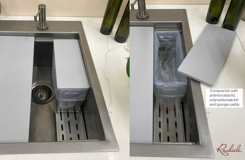 compost bin with polycarbonate bin for kitchen sink by rachiele
