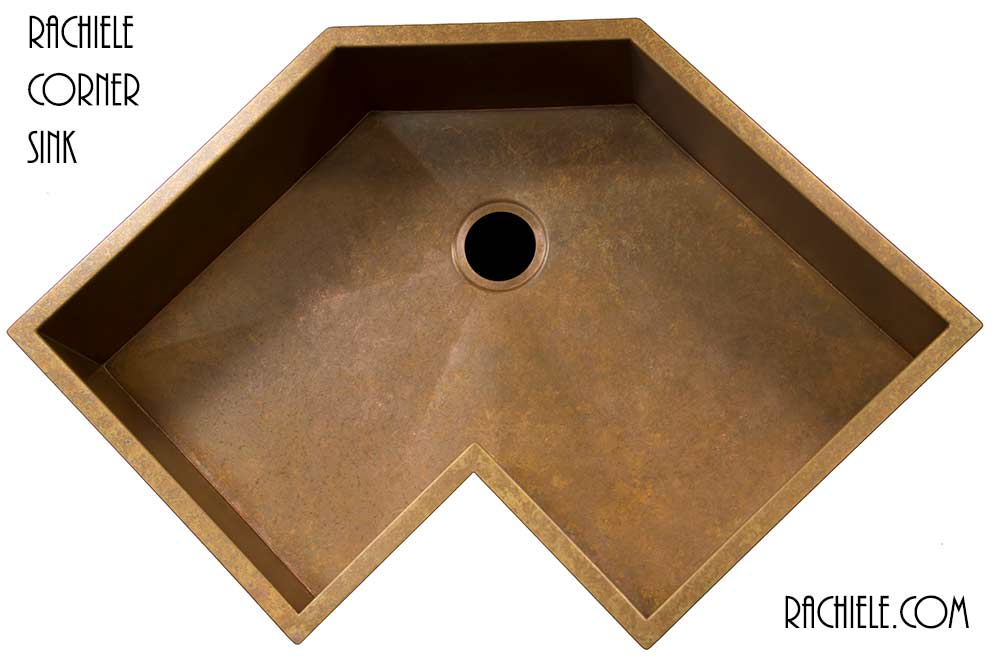 Copper Corner Sink : Corner kitchen sinks in copper and stainless steel that make sense.