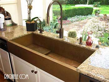 copper farmhouse kitchen sink