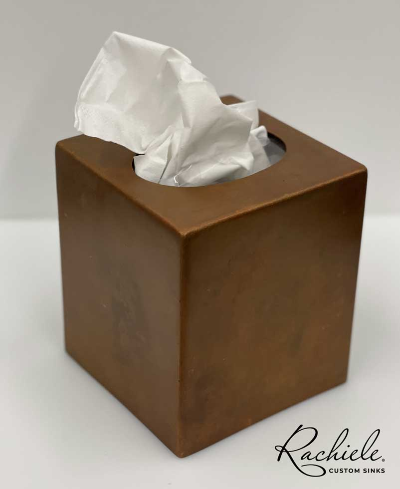 antimicrobial copper kleenex tissue holder
