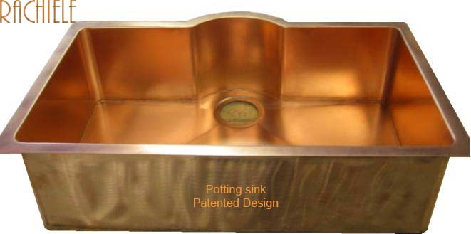 copper potting shed sink