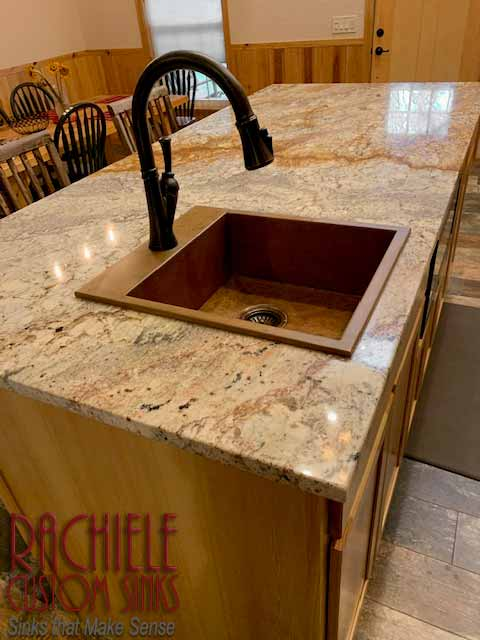top mount copper bar drop in sink