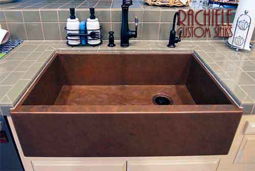 Lovely Copper Sink In Kitchen Farmhouse