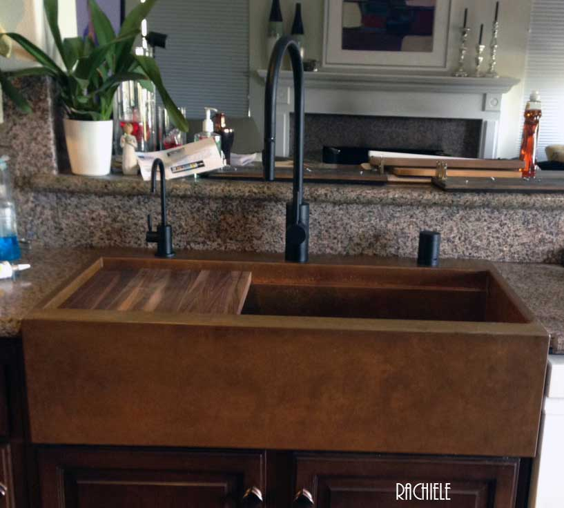 In Case You Were Wondering We Can Build A Copper Or Stainless Steel Top Mount Drop Front Sink
