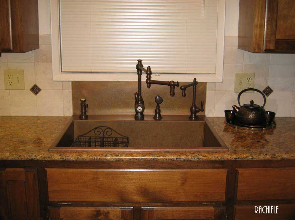 kitchen sink copper drop in or top mount custom copper sinks made in florida 2641