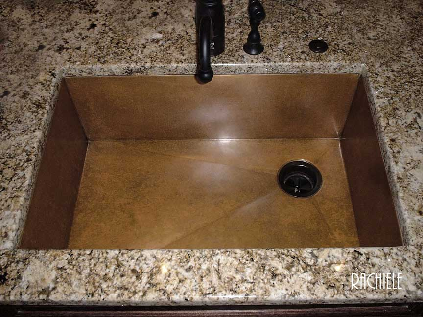 This Copper Under Mount 30 Sink Features Our Self Healing Naturally Weathered Interior