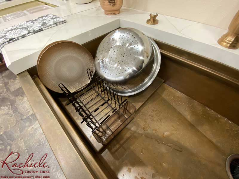 dish rack and drain grid for Rachiele copper sink
