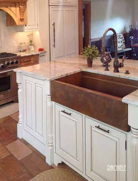copper farm sinks hand crafted and custom made in the usa. Black Bedroom Furniture Sets. Home Design Ideas