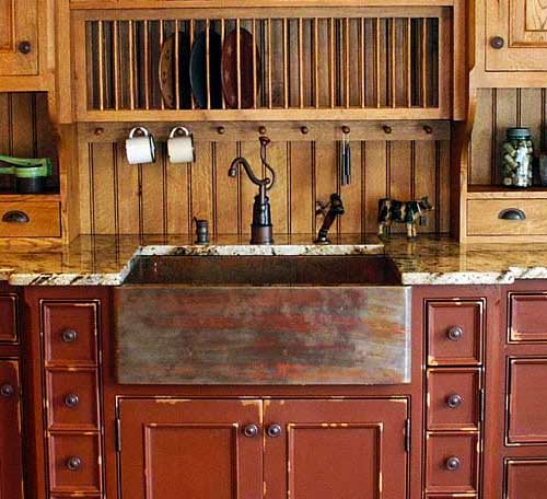 custom copper farmhouse sink