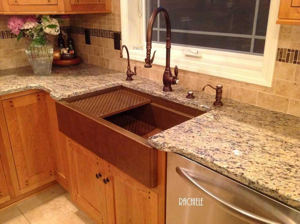 Copper Sinks Workstation Sinks With Cutting Boards And Copper Grid