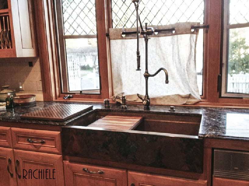 The Photo Of This Custom Copper Farm Sink Was Sent In By A Past Customer.