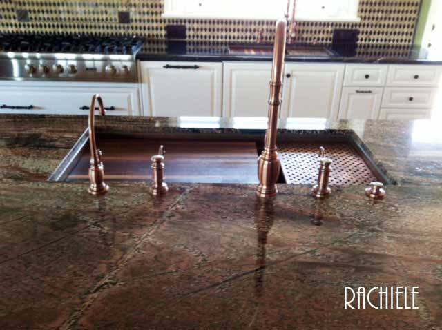 These Folks Invested In Two Signature Series Copper Undermount Sinks For  Their Kitchen.