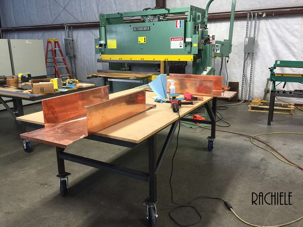 copper sinks prior to welding