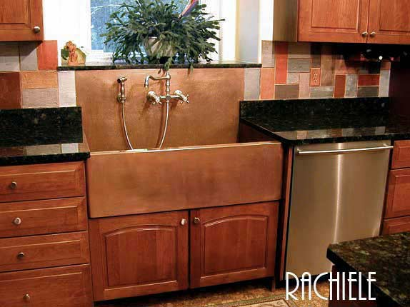 This Is A Photo Of My Copper Apron Sink With An Integral Backsplash.