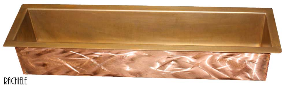 copper trough sink