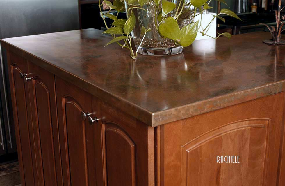 kitchen copper counter top