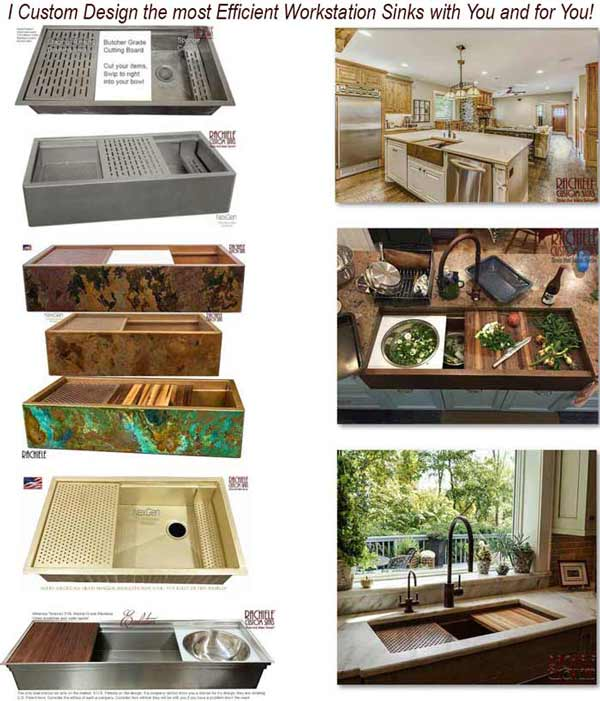 Custom Designed Kitchen Sinks made in the USA