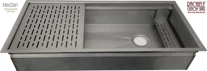 59 inch stainless workstation sink